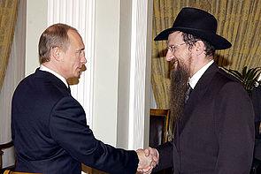 Хабадник Берл Лазар с согласия еврея Путина постарается застроить синагогами и домами терпимости (толерантности) всю эРэФию.